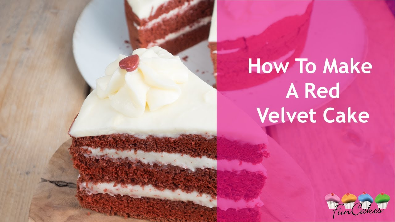 Betere How To Make A Red Velvet Cake With FunCakes - YouTube NU-27