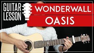 Wonderwall Guitar Tutorial - Oasis Guitar Lesson Easy Chords Guitar Cover
