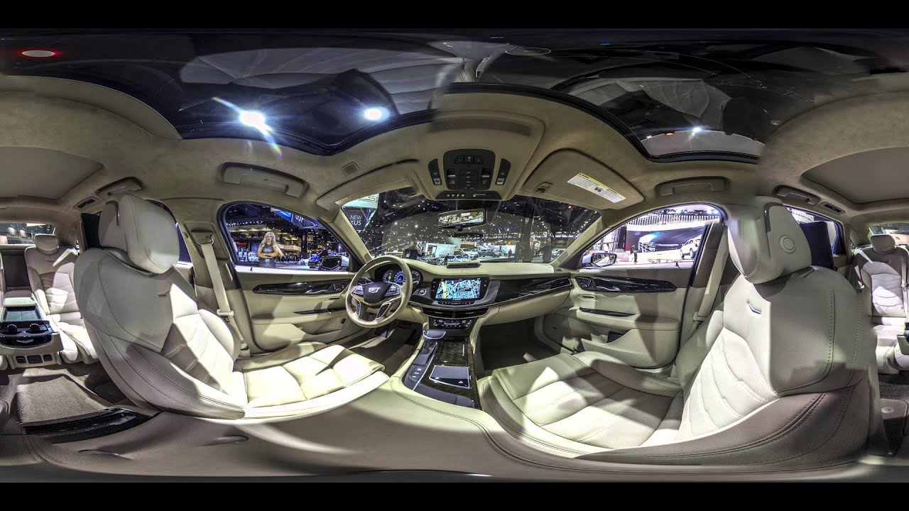 360 interior view of 2017 cadillac cts v at chicago auto. Black Bedroom Furniture Sets. Home Design Ideas