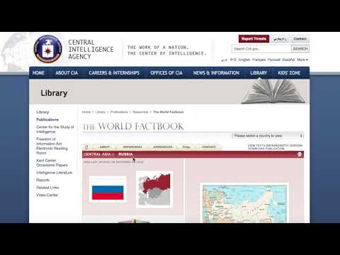 How to Navigate the CIA's The World Factbook