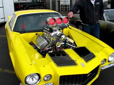 Camaro Ss 1969 Supercharged >> 572 blown big block camaro - YouTube