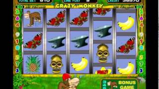Crazy Monkey — игровой автомат онлайн Обезьяна(Crazy Monkey (Крейзи Манки, Обезьяна) — очередной автомат от Игрософт, с пятью барабанами и девятью линиями, из-за..., 2012-01-13T11:53:19.000Z)