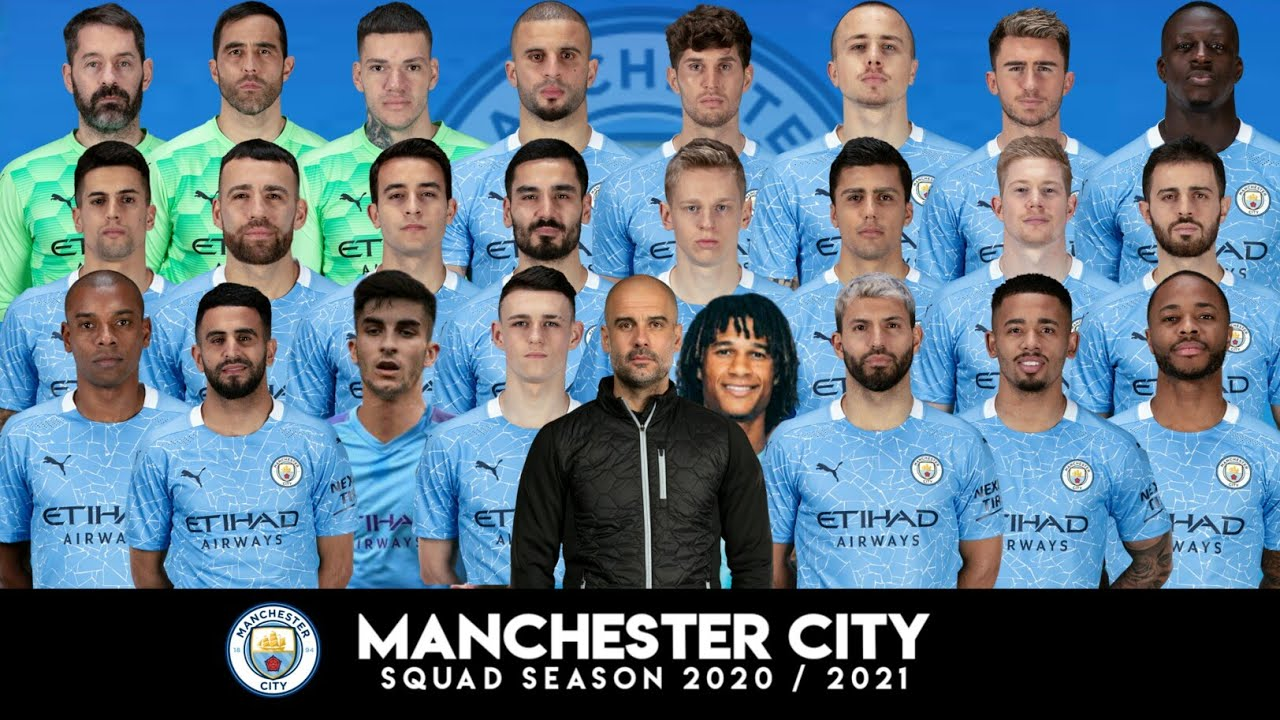 Manchester City Squad 2020/2021 🔴 Man City Full Skuad 2020 ...