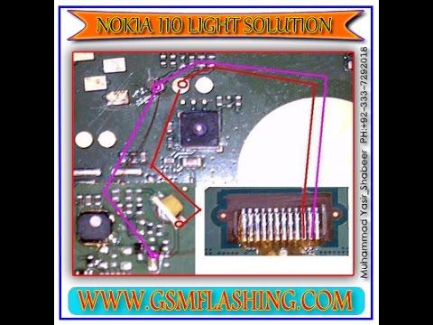 nokia 110 display light problem solutions 100% testad