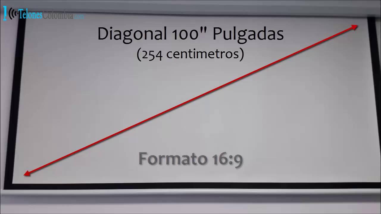 Pantalla el ctrica para video beam de 100 pulgadas youtube for Pantalla proyector electrica