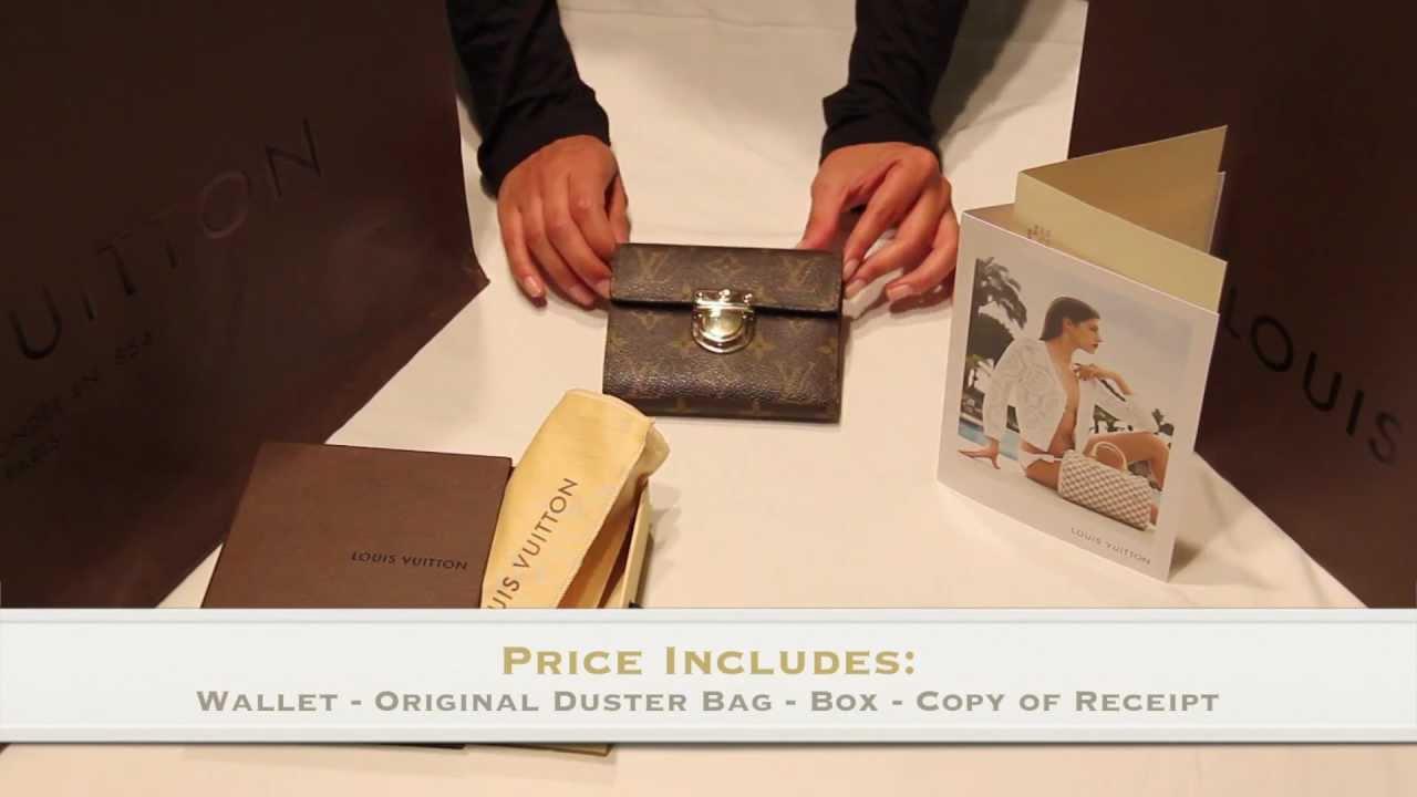 d2c4eb4af2 Louis Vuitton Monogram Koala Wallet For SALE - YouTube