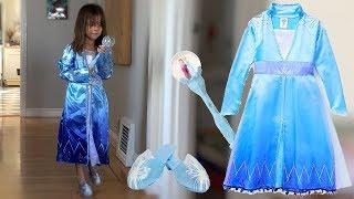 Disney's Frozen 2 Elsa Dress + Shoes & scepter