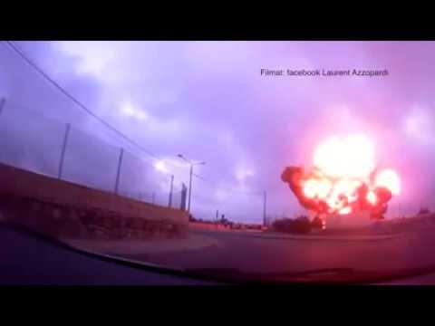 Moment Plane Crashes in Malta - 5 dead