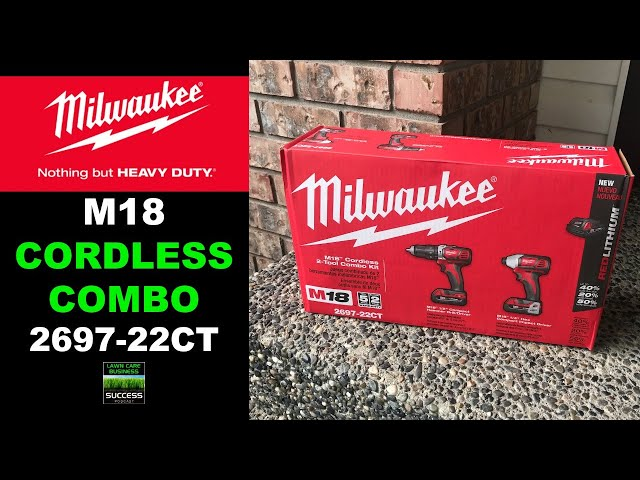 Milwaukee M18 Cordless Hammer Drill and Impact Driver Combo Kit Model 2697-22CT | Unboxing and Demo