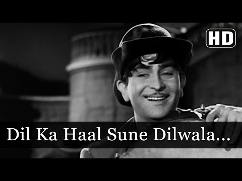 Dil Ka Haal Sune Dilwala - Raj Kapoor - Shree 420 - Bollywood Evergreen Songs - Manna Dey