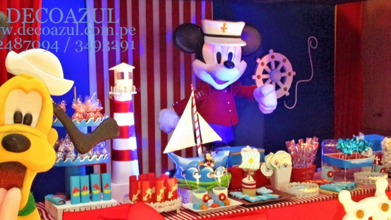 Mickey mouse marinero decoraciones de fiestas mickey - Decoracion para fiestas infantiles mickey mouse ...