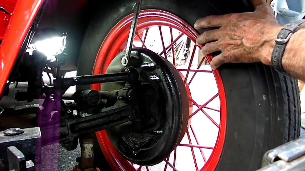 Model A Ford Brake Adjustment