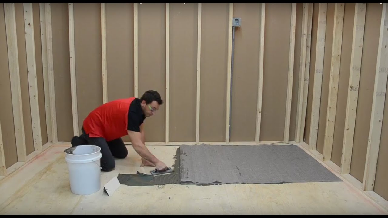 stelpro - how to install the floor heating mat cable system - youtube