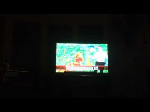Tv Weather Report 80 MPH winds Chad Hamner