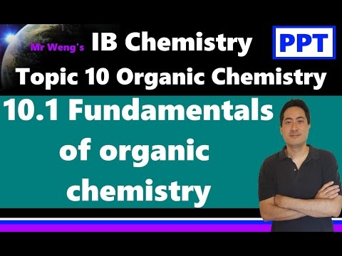 IB Organic Chemistry Topic 10.1 Fundamentals of organic chem