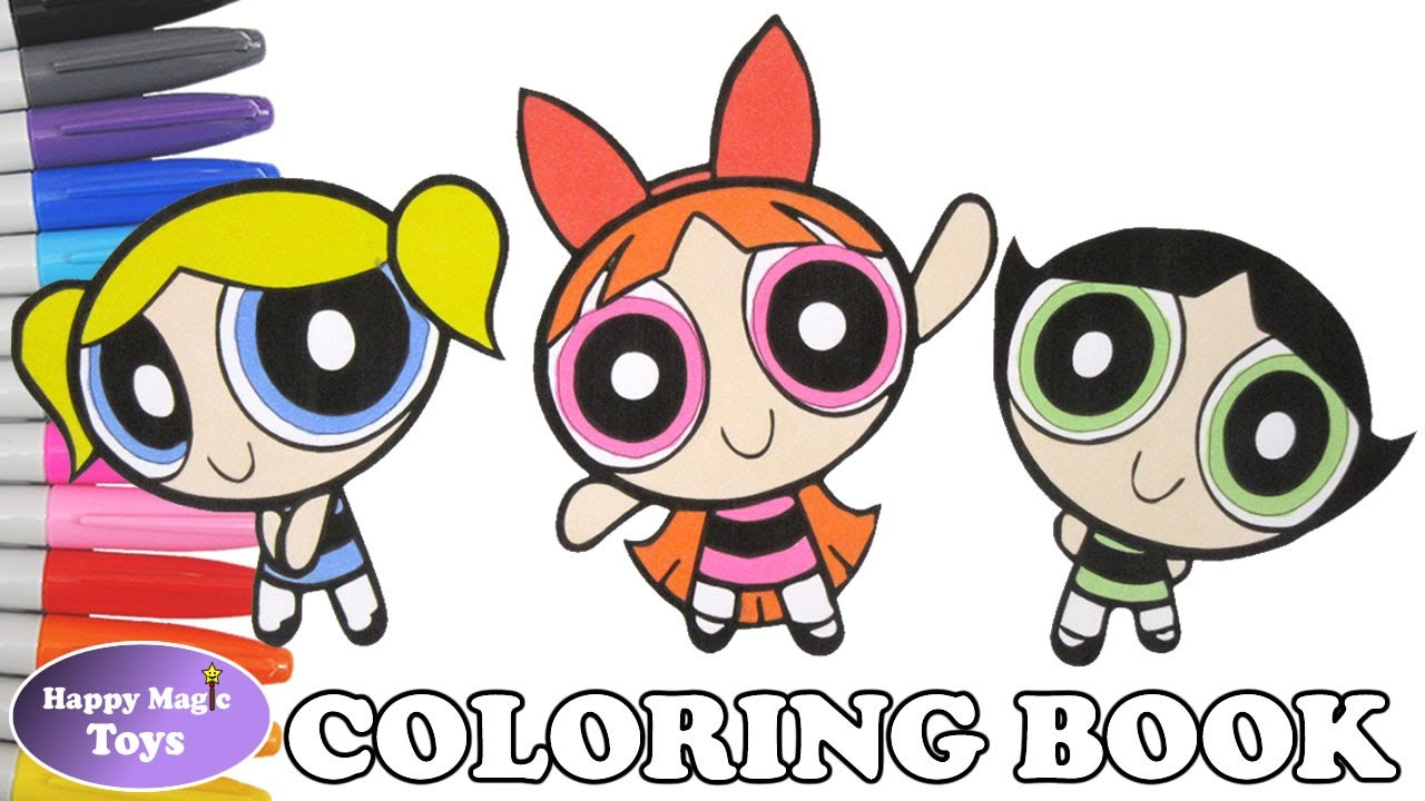 Powerpuff Girls Coloring Book Buttercup Blossom Bubbles Coloring ...
