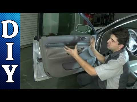 How To Remove And Replace A Door Panel Audi A4 Youtube