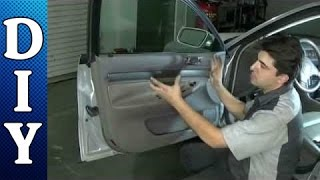 how to remove and replace a door panel audi a4