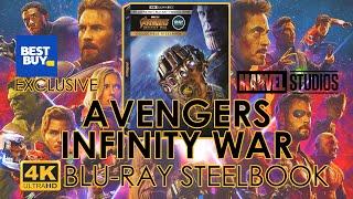 Avengers Infinity War (2018) 4K Ultra HD Blu-ray Steelbook Unboxing   Best Buy Exclusive (4K Video)