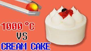 1000도 쇠구슬 vs 케이크