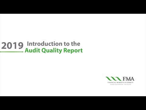 Introduction To The FMA Audit Quality Report 2019