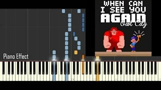 Owl City - When Can I See You Again (Wreck it Ralph) (Piano Tutorial Synthesia)