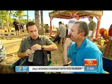 Aussie actor Alex O'Loughlin  on Sunrise in Hawaii