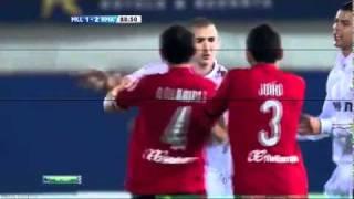 Özil & Benzema Fight vs Ramis ( Mallorca vs Real Madrid )