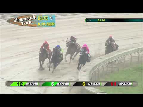 video thumbnail for MONMOUTH PARK 08-16-20 RACE 9 – INCREDIBLE REVENGE STAKES