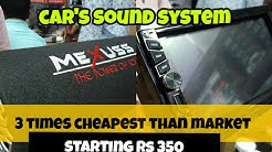 Cheapest car's , bass tube, display and sound system in Delhi || Kashmere Gate