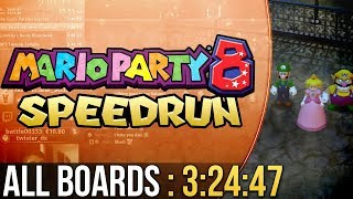 [WR] Mario Party 8 All Boards Speedrun in 3:24:47 (Hard)