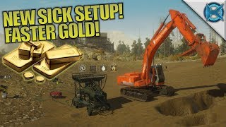 NEW SICK SETUP! FASTER GOLD! | Gold Rush: The Game | Let's Play Gameplay | S01E03