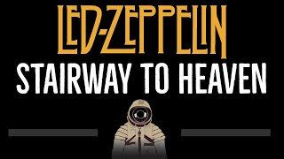 Led Zeppelin • Stairway To Heaven (CC) 🎤 [Karaoke] [Instrumental Lyrics]