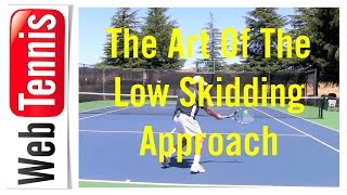 Tennis Slice Approach Shots - At The Top Of The Bounce