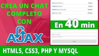 🔃 Como Crear un Chat con HTML5, CSS3, PHP, MYSQL y AJAX
