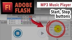 Play and Stop buttons: MP3 music player in Adobe Flash [TUTORIAL]