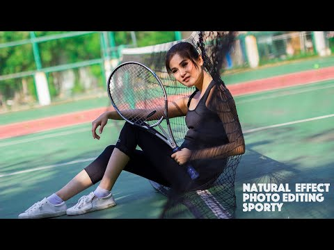 Natural Photo Editing Photoshop Tutorial | Sporty Girl thumbnail