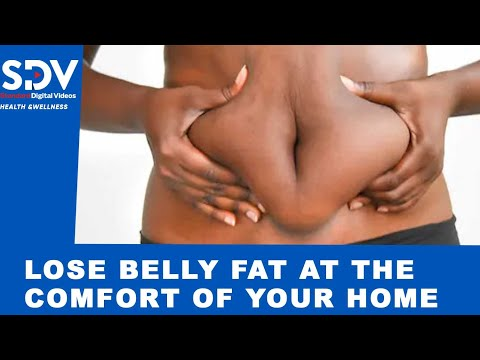 The perfect workout to lose belly fat at the comfort of your living room