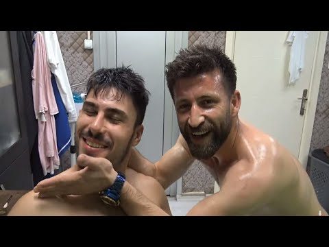 ASMR TURKISH MASSAGE BARBER= SPORTS MASSAGE THERAPY= SHAMPOO MASSAGE =head,back,arm,ear,face massage