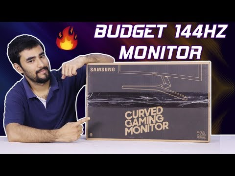 Best 1080p 144Hz Curved Gaming Monitor at Rs14500/ - Samsung CRG50 Review and Unboxing | Hindi