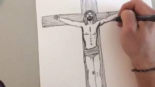 Time Lapse Drawing | Jesus on the Cross (Author: Sean Keys) (Music by: Sean Keys)