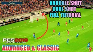 How to perform Curl shot/Knuckle shot in PES 19 Mobile[Full tutorial]