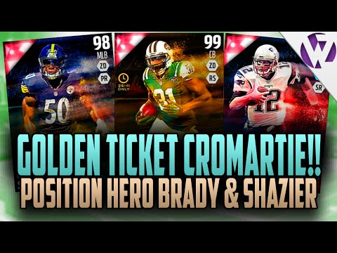 Madden 16 GOLDEN TICKET CROMARTIE!!! LARRY ALLEN PULL?!?! + POSITION HERO BRADY & SHAZIER OUT TODAY