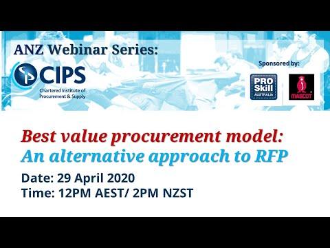 CIPS ANZ Webinar - Best value procurement model