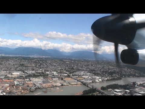 Excellent HD Bombardier Dash 8 Q400 Landing In Vancouver On Air Canada Jazz!!!