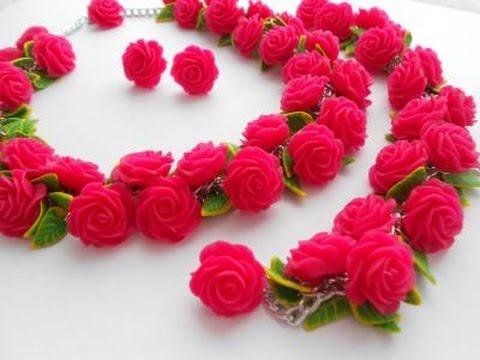 фото розы из полимерной глины