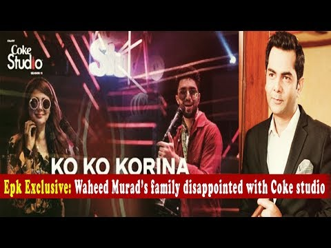 Waheed Murad's family disappointed with Coke studio