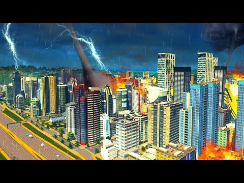 DESTROYING MY *OLD* CITY (cities skyline natural disaster dlc) |