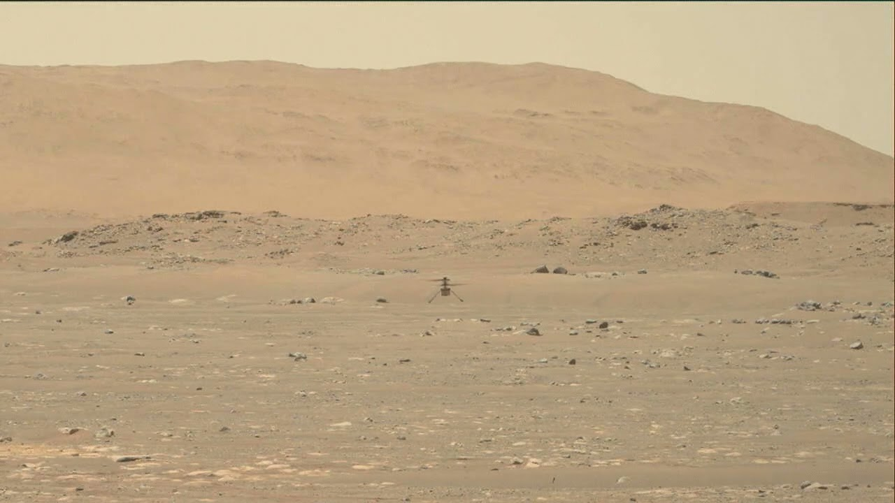 NASA flies a helicopter on Mars