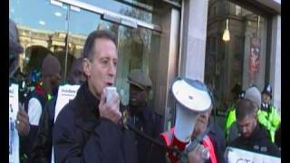 Protest in London Against Uganda Bill: Peter Tatchell 1/2 - OutRage! gay activist